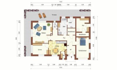 Grundrissskizze EG (1-2 Familienhaus, Berumbur)