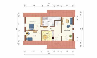 Grundrissskizze DG (1-2 Familienhaus, Berumbur)