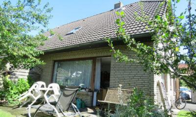 Terrassenansicht (Wohnung, Krummhörn-Greetsiel)