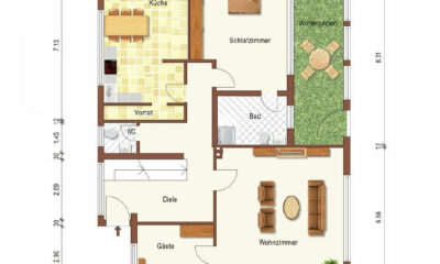 Grundriss EG (1-2 Familienhaus, Lingen)